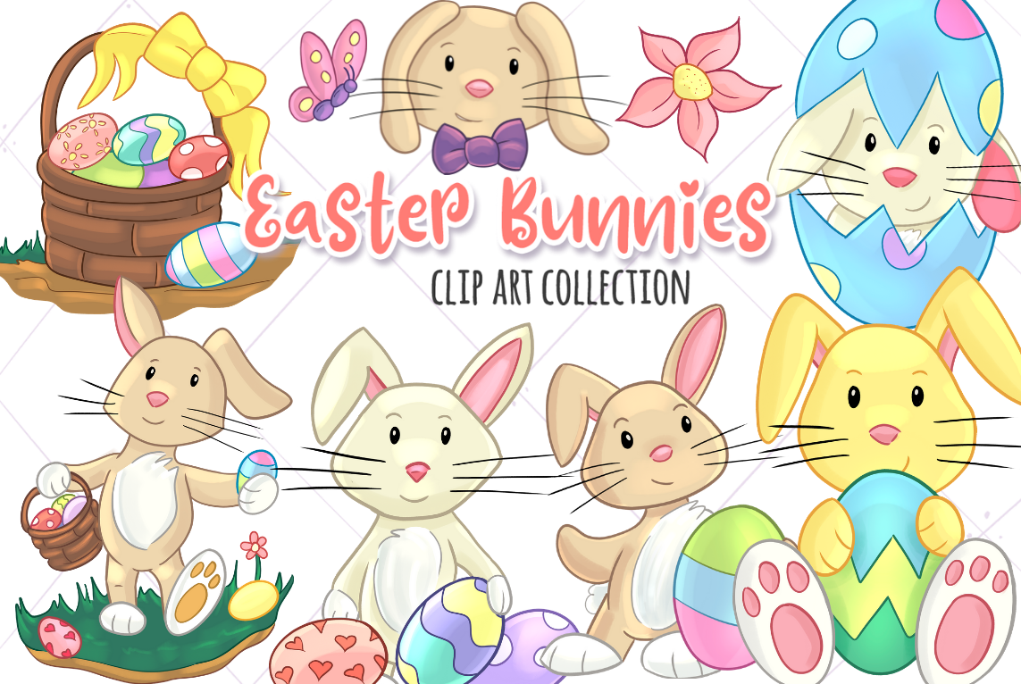 Download Free Easter Bunnies Graphic By Keepinitkawaiidesign Creative Fabrica for Cricut Explore, Silhouette and other cutting machines.