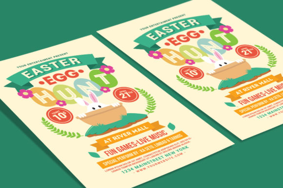 Easter Egg Hunt Flyer Graphic Print Templates By muhamadiqbalhidayat - Image 3