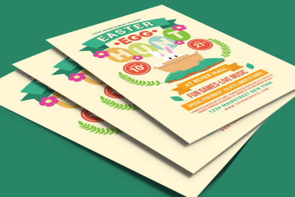 Easter Egg Hunt Flyer Graphic Print Templates By muhamadiqbalhidayat - Image 4