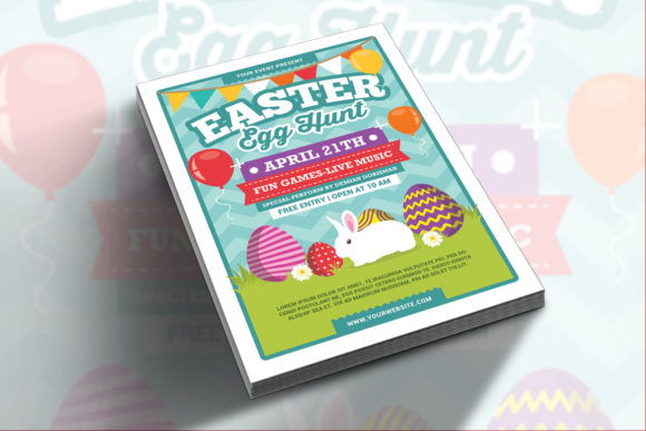 Easter Egg Hunt Graphic Print Templates By muhamadiqbalhidayat - Image 2