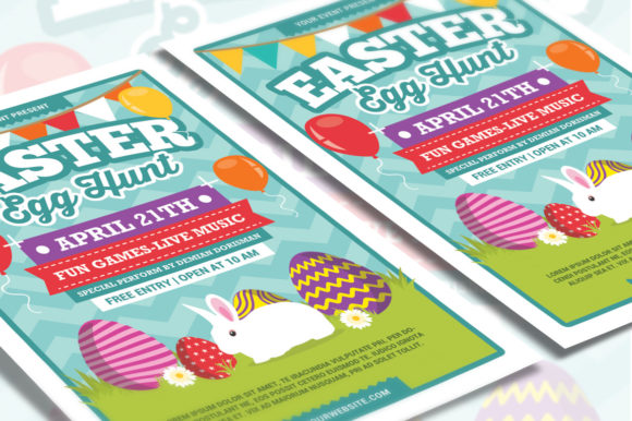 Easter Egg Hunt Graphic Print Templates By muhamadiqbalhidayat - Image 3