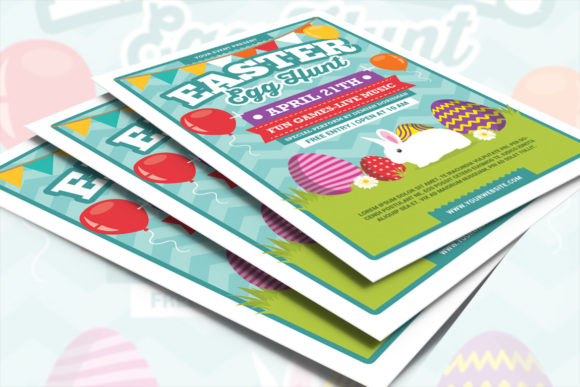 Easter Egg Hunt Graphic Print Templates By muhamadiqbalhidayat - Image 4