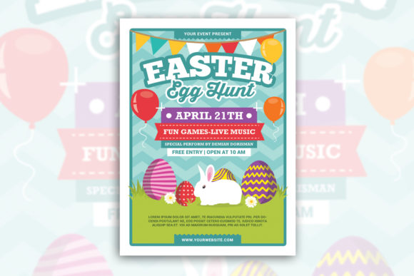 Easter Egg Hunt Graphic Print Templates By muhamadiqbalhidayat - Image 1