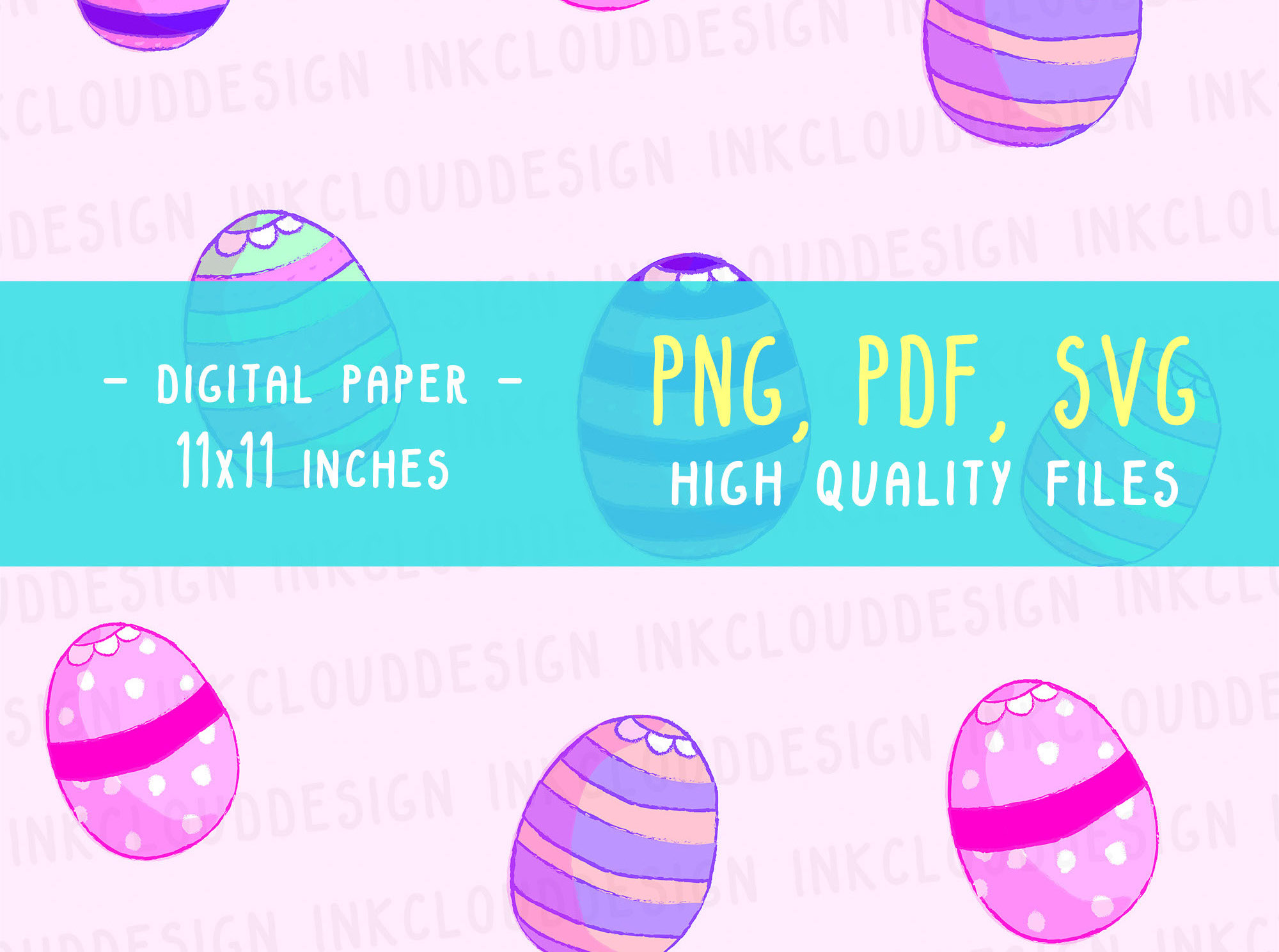 Download Free Easter Eggs Set Digital Paper Scrapbook Graphic By for Cricut Explore, Silhouette and other cutting machines.