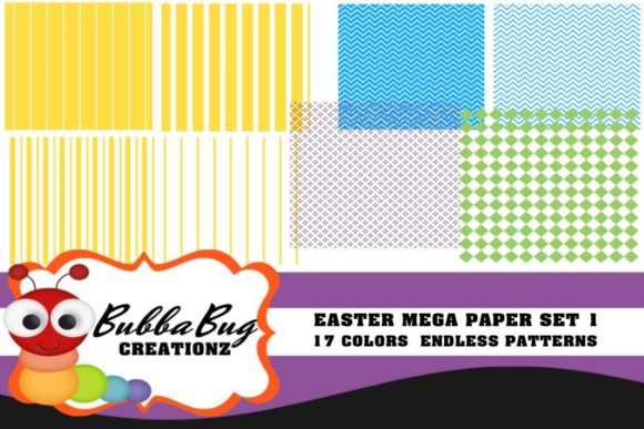 Easter Mega Paper Set 1 Graphic Patterns By BUBBABUG
