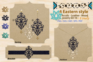 Print on Demand: Eastern Style Acrylic Jewelry Kit 10 Graphic Illustrations By 3Motional