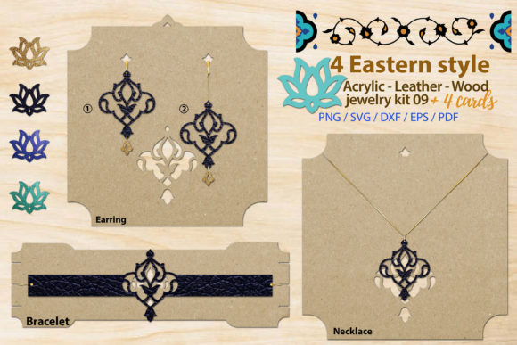 Print on Demand: Eastern Style Acrylic Leather Wood Kit 9 Graphic Illustrations By 3Motional