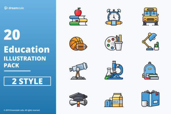 Education Vector Icons Pack Grafik Icons von Icon Stale