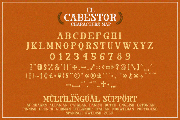 Print on Demand: El Cabestor Display Font By dmletter31 - Image 6