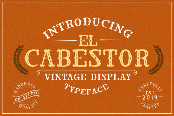 El Cabestor Display Font By dmletter31