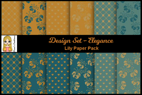 Elegance - Lily Paper Pack Graphic By Aisne
