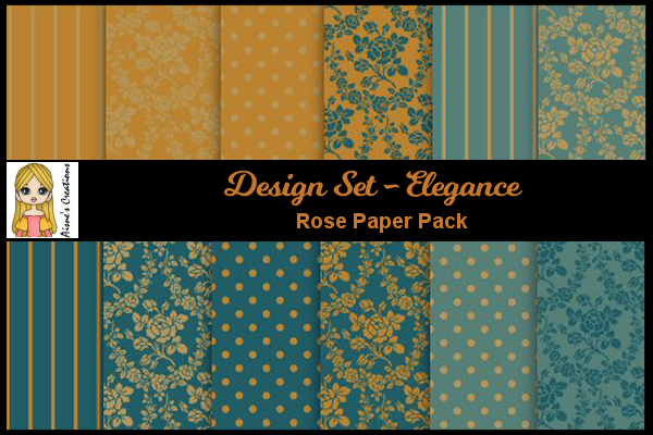 Download Free Elegance Rose Paper Pack Graphic By Aisne Creative Fabrica for Cricut Explore, Silhouette and other cutting machines.