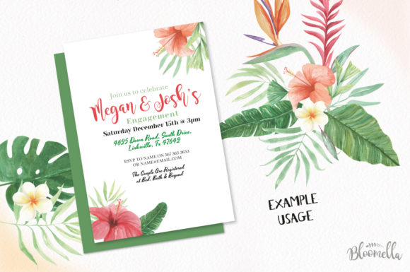 Elements Tropical Package Flamingo Tucan Graphic By Bloomella Image 4