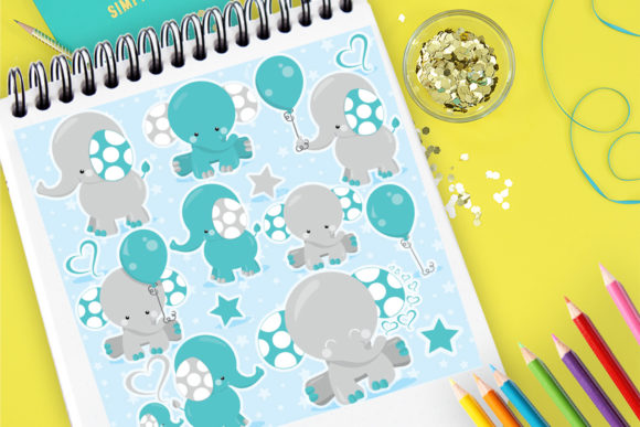 Print on Demand: Elephant Kids Graphic Illustrations By Prettygrafik