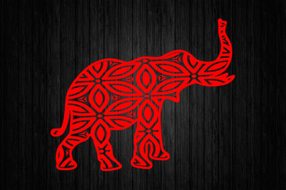 Elephant Mandala SVG,Elephant Cut File Graphic Graphic Templates By Scmdesign - Image 1