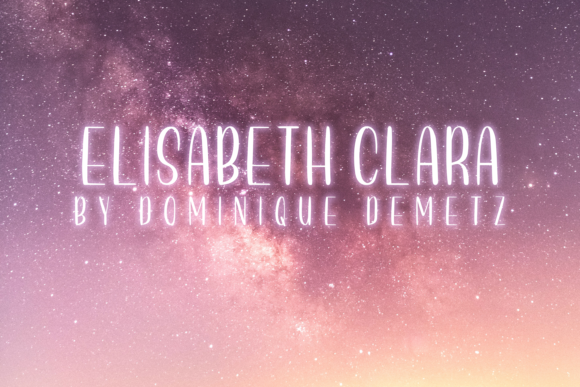 Print on Demand: Elisabeth Clara Script & Handwritten Font By Dominique Demetz - Image 1