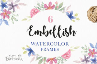 Embellish Watercolour Frames Set Borders Graphic By Bloomella