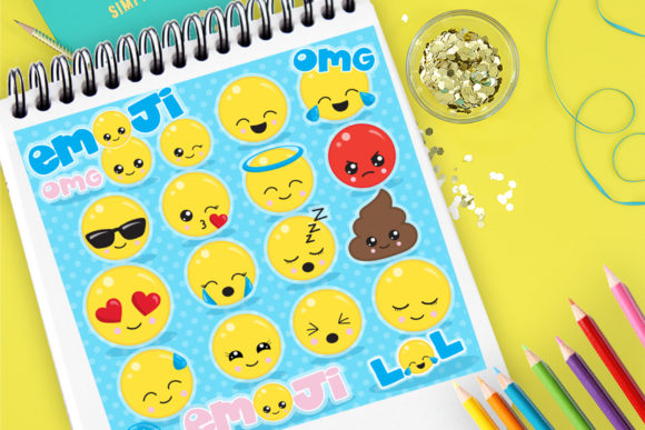 Print on Demand: Emoji Set Graphic Illustrations By Prettygrafik