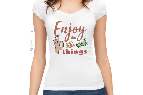 Enjoy the Little Things Illustration Graphic By artsbynaty Image 3