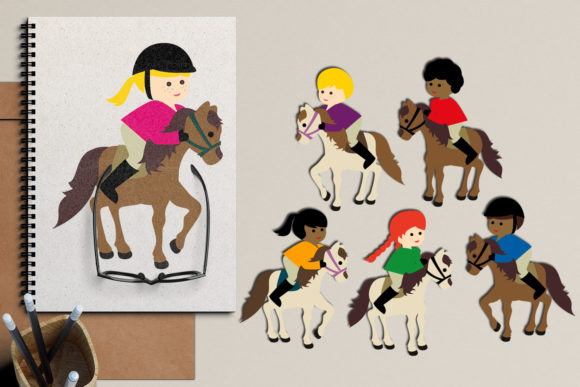 Print on Demand: Equestrian Horse Riding Graphic Illustrations By Revidevi