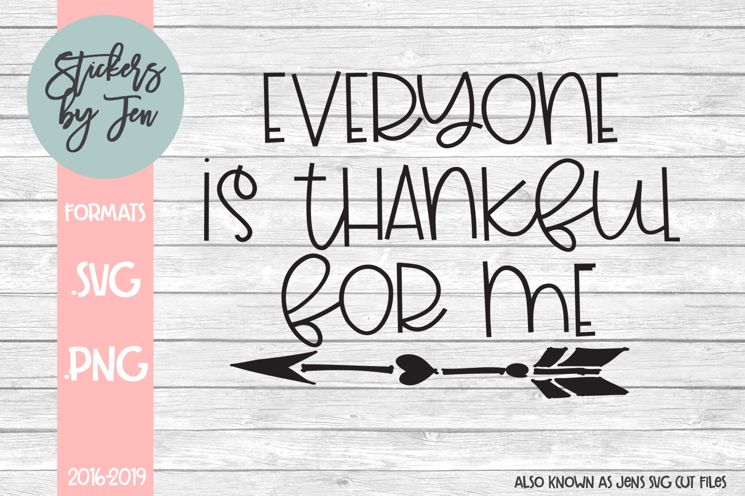 Download Free Everyone Is Thankful For Me Svg Graphic By Stickers By Jennifer for Cricut Explore, Silhouette and other cutting machines.