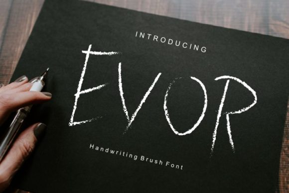 Print on Demand: Evor Display Font By ed.creative
