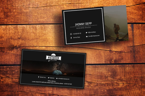 Exhale Business Card Templates Graphic By gumacreative Image 4