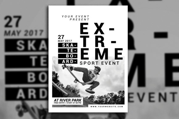 Download Free Extreme Sport Event Flyer Grafico Por Muhamadiqbalhidayat for Cricut Explore, Silhouette and other cutting machines.