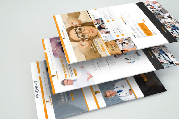 Print on Demand: EyeDoctor - Eye Specialists PSD Template Graphic UX and UI Kits By PakpahanMarg - Image 2