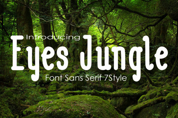 Download Free Eyes Jugle Font By Microcreative Creative Fabrica SVG Cut Files