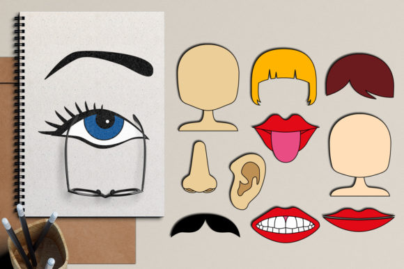 Print on Demand: Face Graphic Illustrations By Revidevi