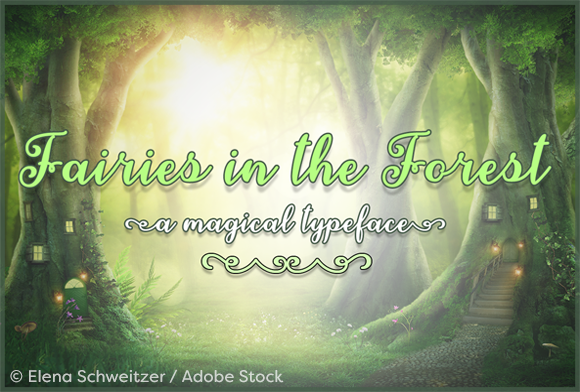 Print on Demand: Fairies in the Forest Script & Handwritten Font By Misti