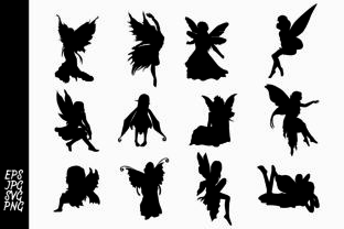 Download Free Fairy Silhouette Bundle Graphic By Arief Sapta Adjie Creative for Cricut Explore, Silhouette and other cutting machines.