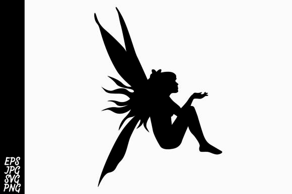 Download Free Fairy Silhouette Svg Graphic By Arief Sapta Adjie Ii Creative for Cricut Explore, Silhouette and other cutting machines.