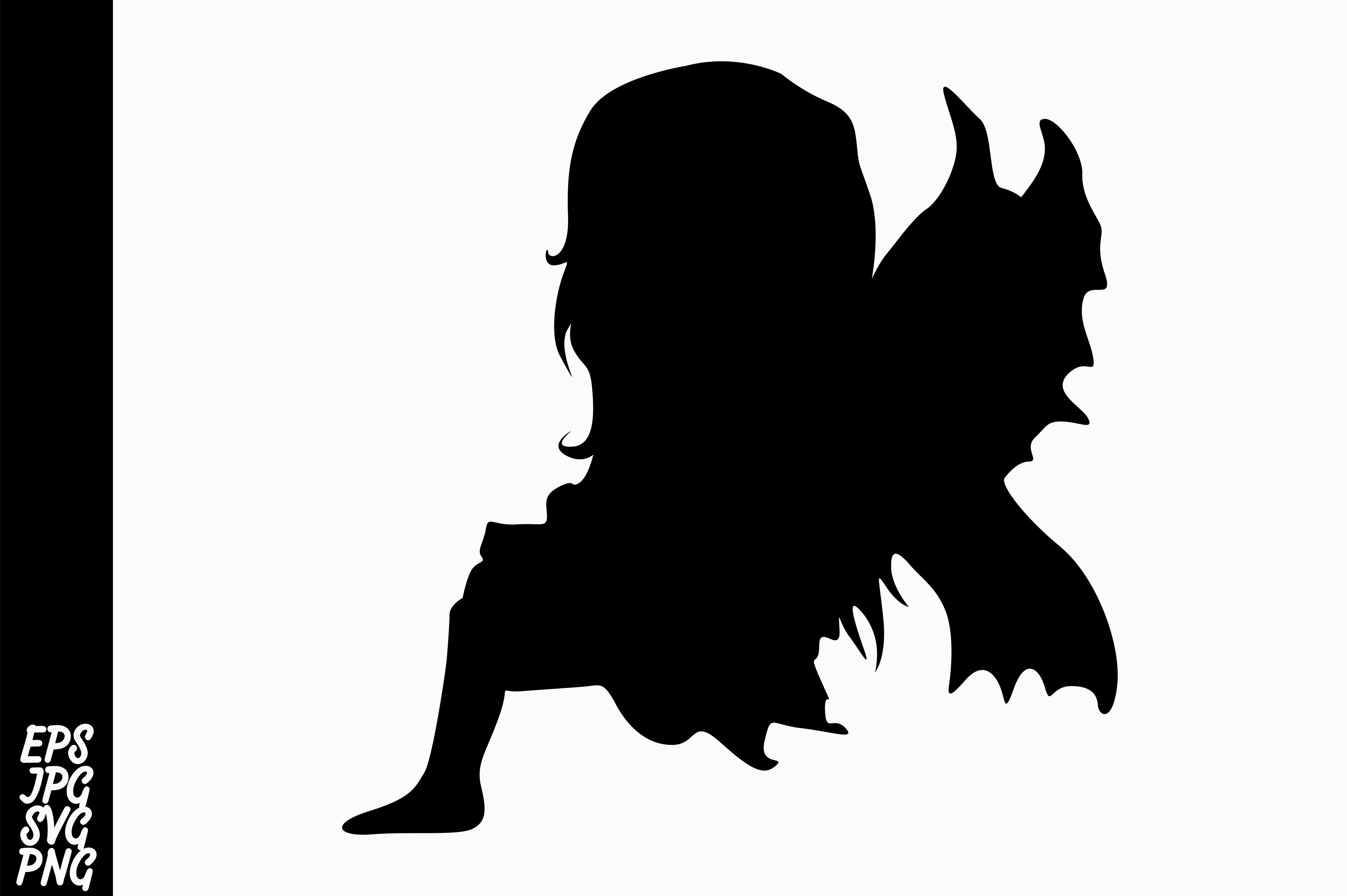 Download Free Fairy Silhouette Graphic By Arief Sapta Adjie Creative Fabrica for Cricut Explore, Silhouette and other cutting machines.