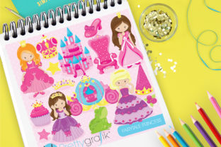 Print on Demand: Fairytale Princess Graphic Set Graphic Illustrations By Prettygrafik