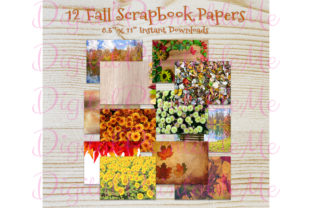 Fall Autumn Photo Thanksgiving Paper Graphic By DigitalPrintableMe