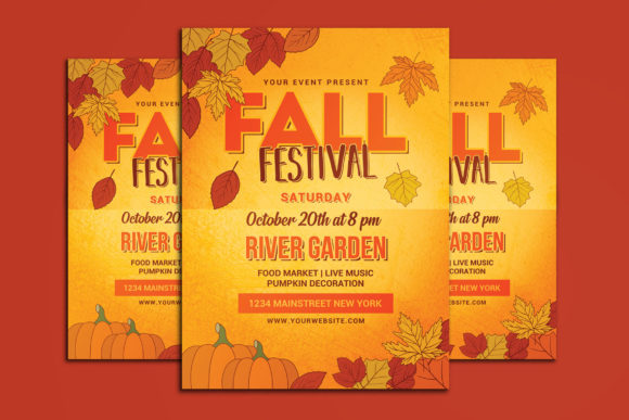 Fall Festival Flyer Graphic Print Templates By muhamadiqbalhidayat