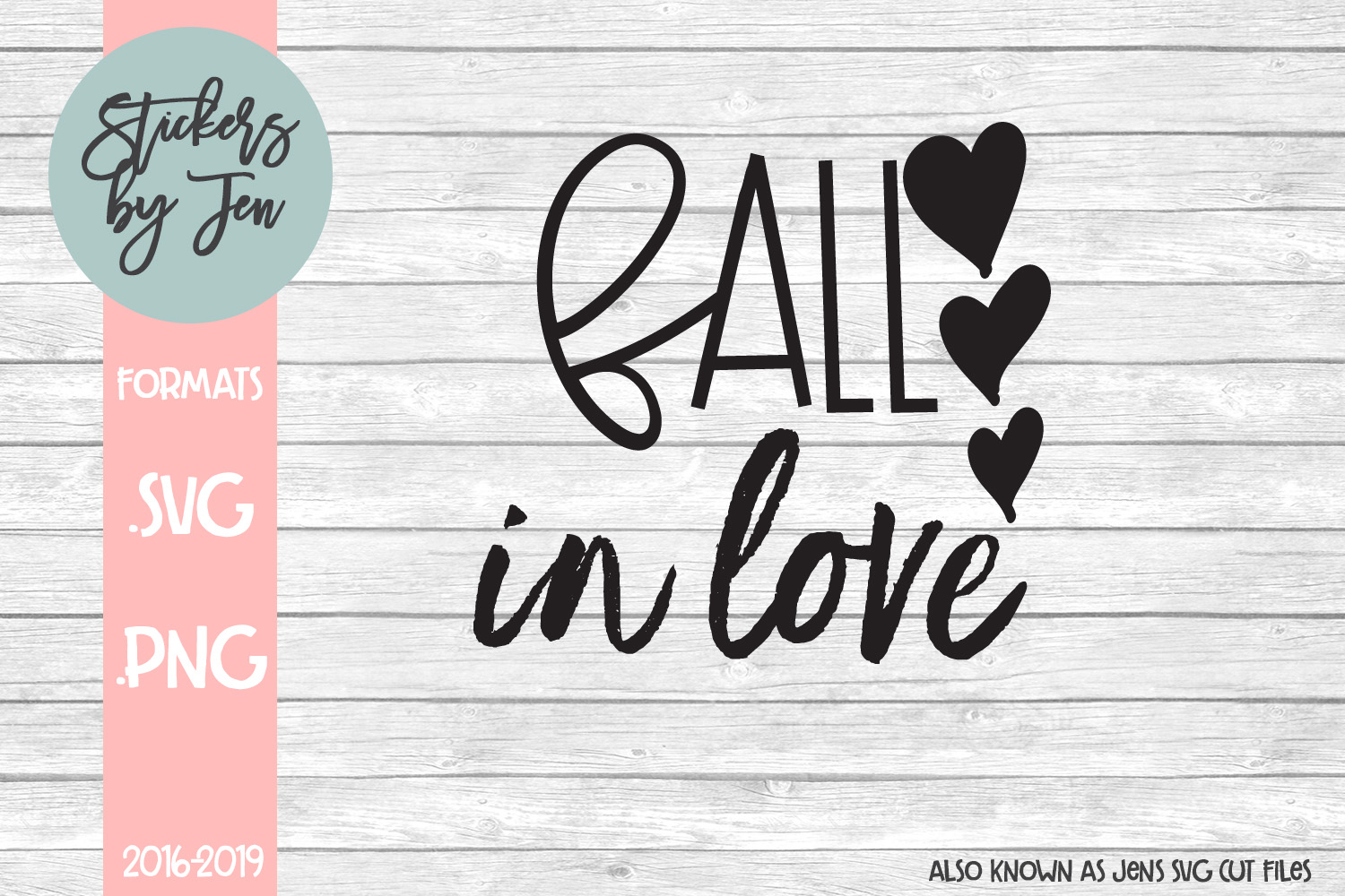 Download Free Fall In Love Svg Graphic By Stickers By Jennifer Creative Fabrica for Cricut Explore, Silhouette and other cutting machines.