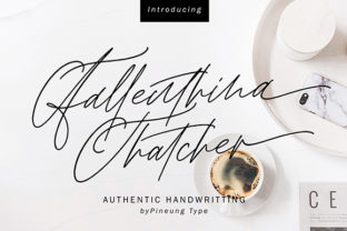 Fallenthina Thatcher Font By missinklab