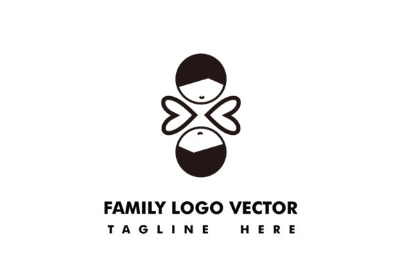 Download Free Family Logo Vector Grafik Von Yuhana Purwanti Creative Fabrica for Cricut Explore, Silhouette and other cutting machines.