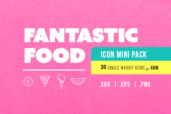 Fantastic Food (30)-Icon Mini Pak by GDM Graphic Icons By graphicdesignmarket