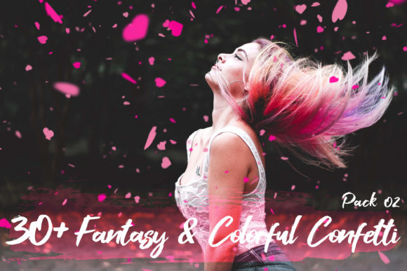 Print on Demand: Fantasy & Colorful Confetti Overlay II Graphic Textures By 3Motional