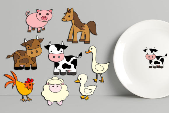 Print on Demand: Farm Animals Graphic Illustrations By Revidevi