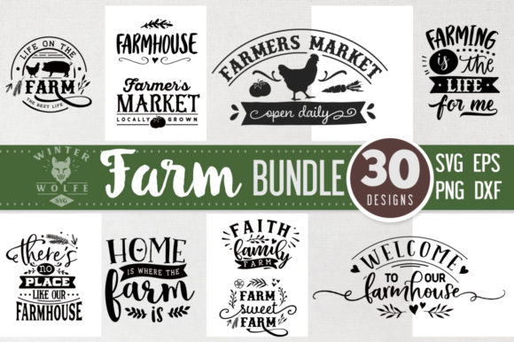 Farm Bundle SVG 30 Designs Graphic By WinterWolfeSVG Image 2