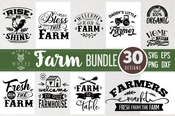 Farm Bundle 30 Designs Graphic Crafts By WinterWolfeSVG