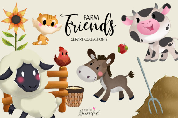 Farm Friends Clipart Collection 02 Graphic Illustrations By usefulbeautiful