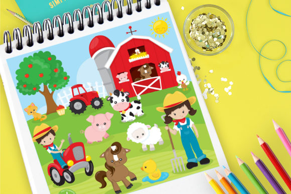 Print on Demand: Farm Set Graphic Illustrations By Prettygrafik