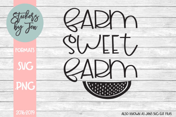 Download Free Farm Sweet Farm Svg Graphic By Jens Svg Cut Files Creative Fabrica for Cricut Explore, Silhouette and other cutting machines.
