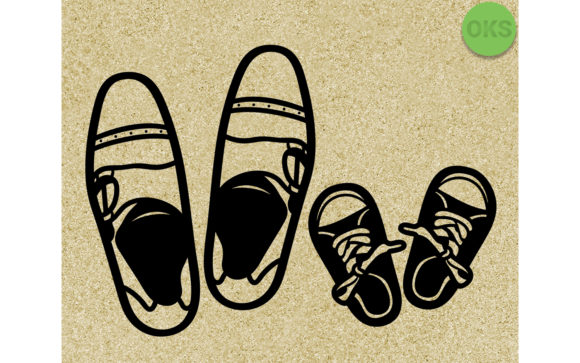 Download Free Father And Son Shoes Svg Graphic By Crafteroks Creative Fabrica for Cricut Explore, Silhouette and other cutting machines.
